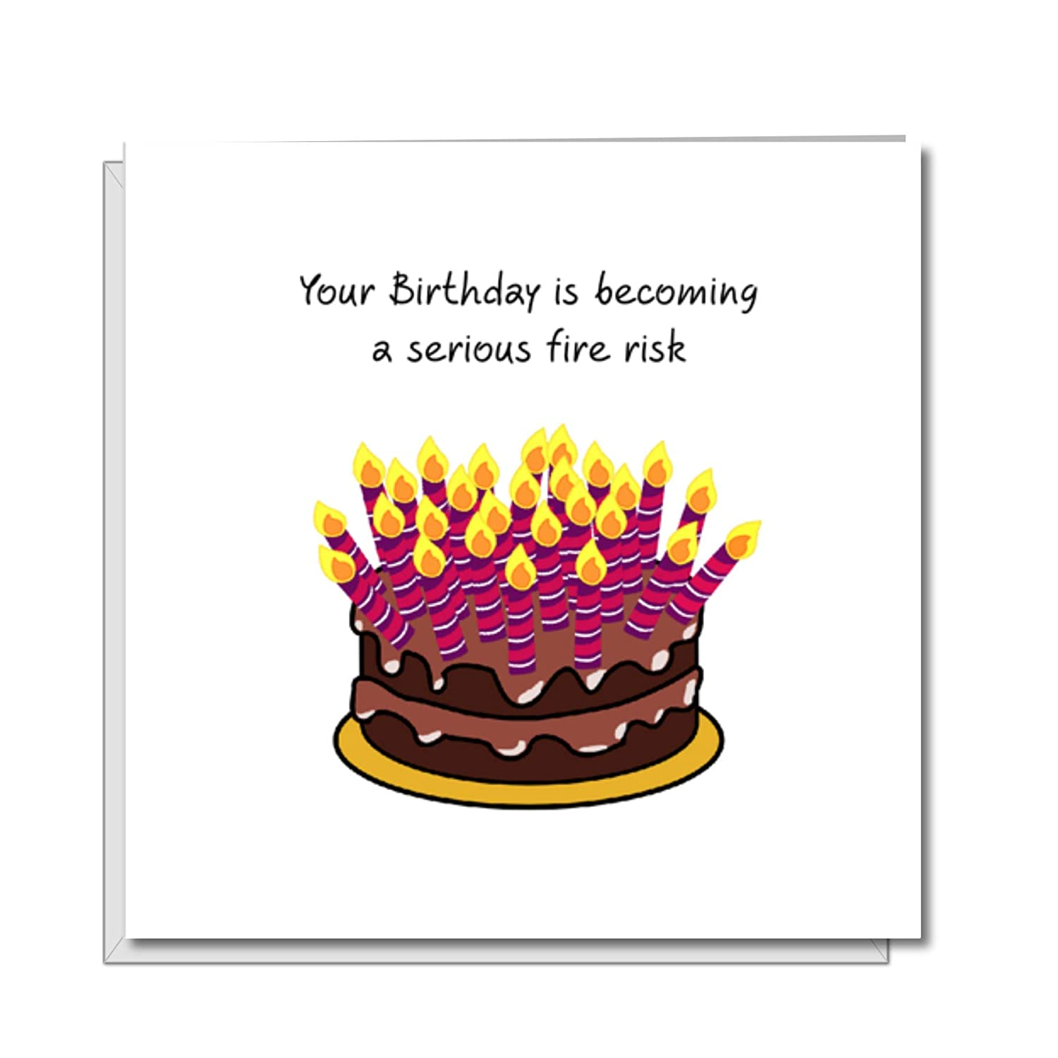 Admirable Funny Birthday Card With Cake And Candles Dad Mum Friend Funny Funny Birthday Cards Online Alyptdamsfinfo