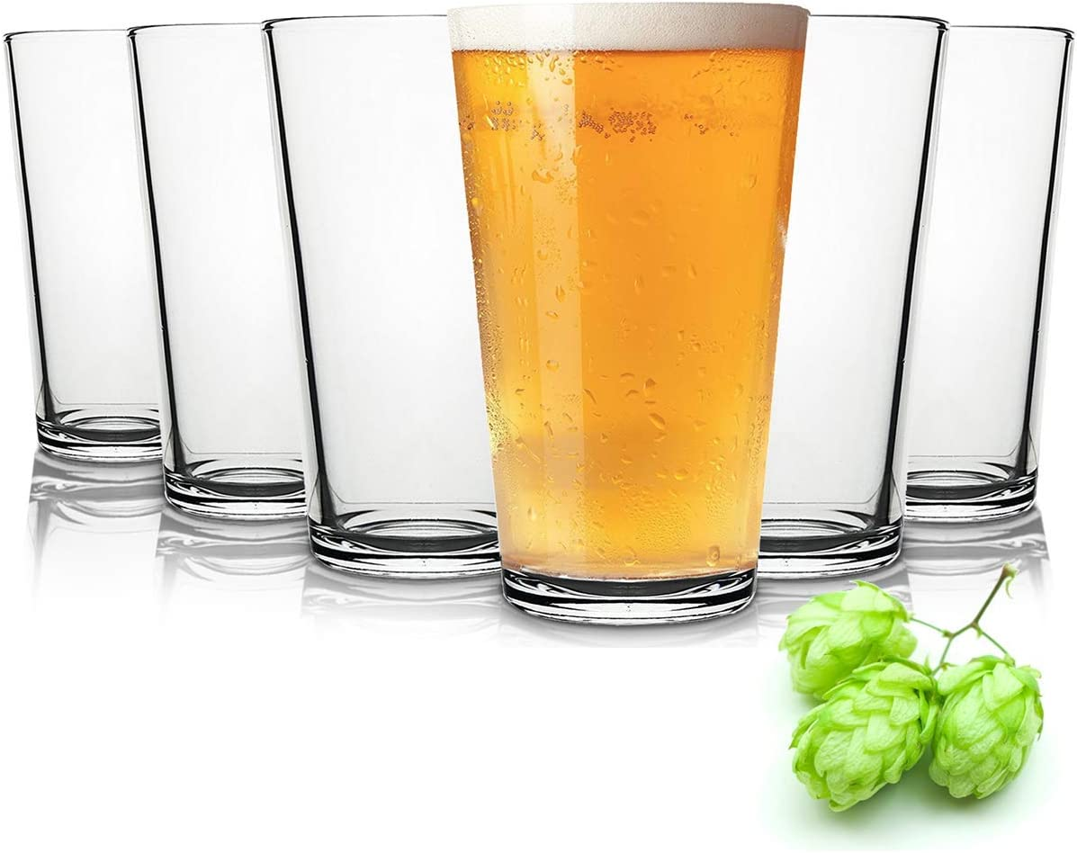 Tivoli Liverpool Vasos de Cerveza - 490 ml - Conjunto de 6 - Gafas Lavavajillas- Vasos de Cristal