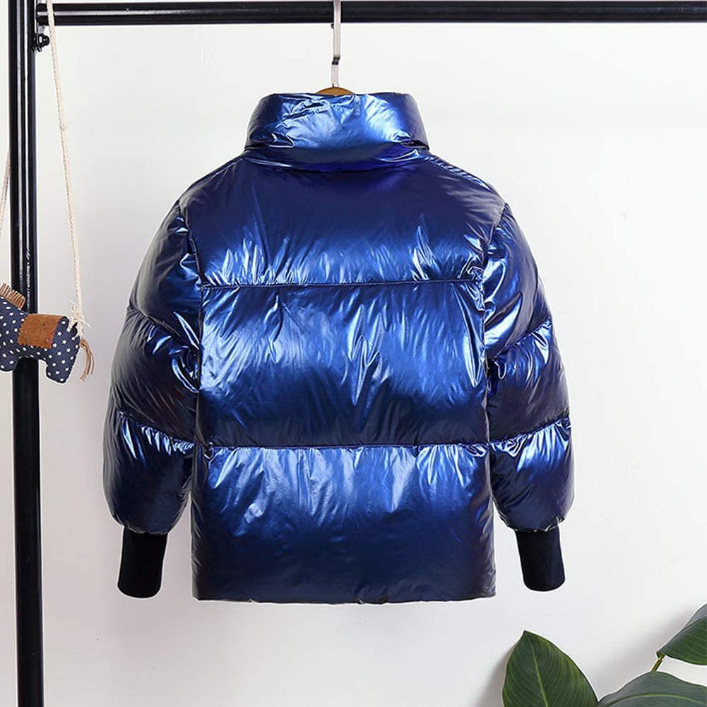 LPATTERN Toddler Kids Boys//Girls Winter Shiny Down Jacket Thick Snow Coat Short Padded Coat Warm Puffer Coat Quilted Jacket Parka Coat Stand-up Collar