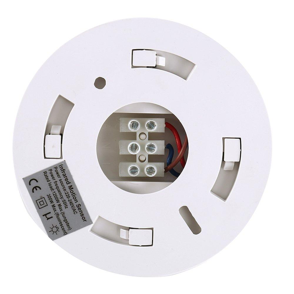 Soporte de Superficie PIR Techo Toma Sensor de Movimiento Interruptor óptico 360 Grados sin ángulo Muerto 220V Home Office: Amazon.es: Bricolaje y ...