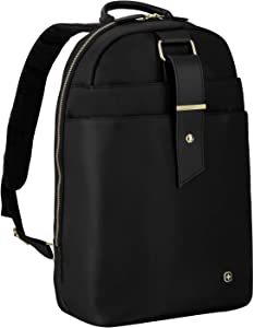 """Wenger 604805 Alexa 16"""" Women's Laptop Backpack, Padded Laptop Compartment with Floral Desgin Accents in Black {12 litres}"""