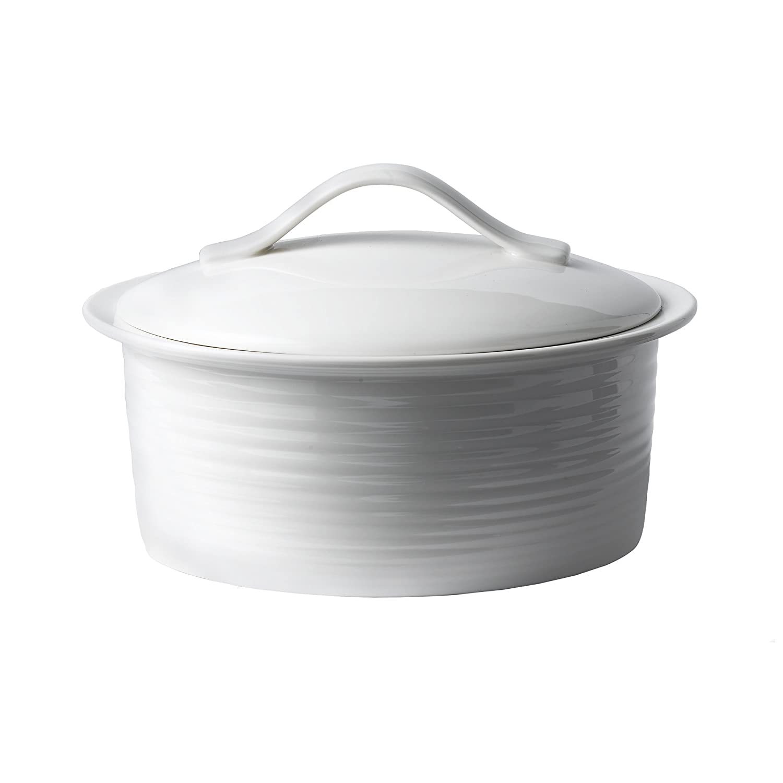 Amazon.com Gordon Ramsay by Royal Doulton White Porcelain 2-Quart Covered Casserole Baking Dishes Kitchen \u0026 Dining  sc 1 st  Amazon.com & Amazon.com: Gordon Ramsay by Royal Doulton White Porcelain 2-Quart ...