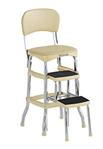 COSCO 11120CBY1E Stylaire Chair and Step Stool, Yellow