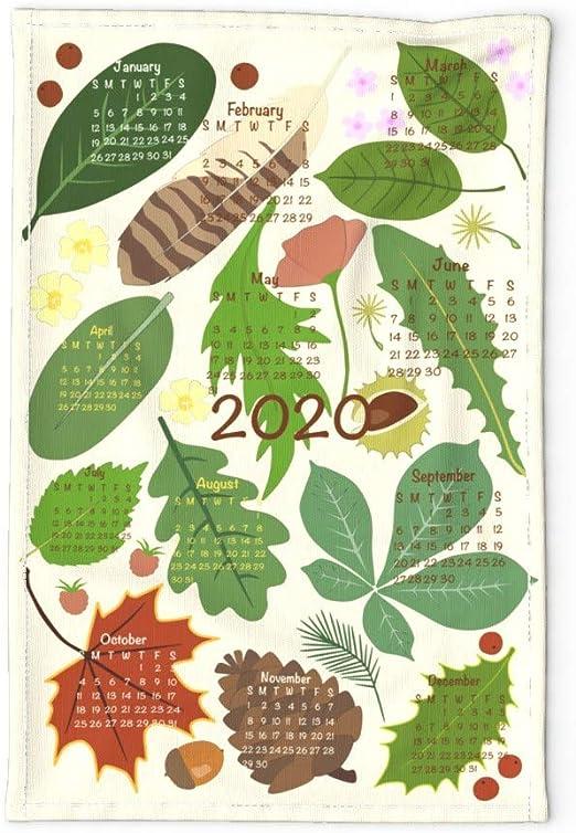 Botany Leaves Vintage Towel Cavallini /& Co Cotton Tea Towel