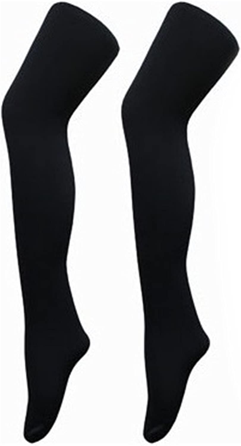 BestSale247 Pack of 2 Womens Thermal Tights Opaque Super Warm with Inner Lining Winter Thermal Tights Underwear Black
