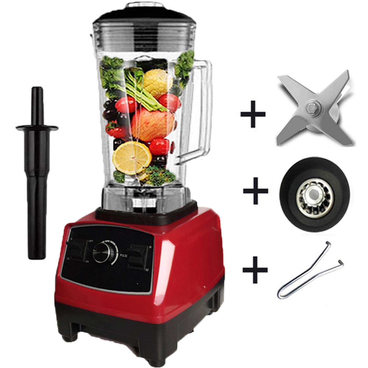 Best Motor commercial professional smoothies power blender food mixer processor,Red full parts