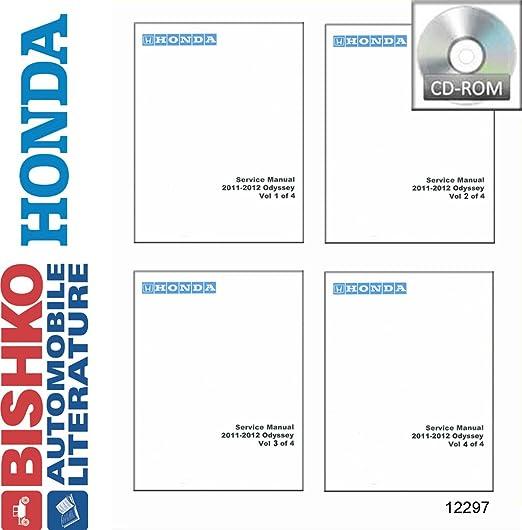 2011-2012 honda odyssey repair shop manual original 2 vol. Set.
