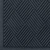 Andersen 221 Waterhog Fashion Diamond Polypropylene Fiber Entrance Indoor/Outdoor Floor Mat, SBR Rubber Backing, 6' Length x 6' Width, 3/8'' Thick, Charcoal