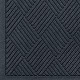 Andersen 221 Waterhog Fashion Diamond Polypropylene Fiber Entrance Indoor/Outdoor Floor Mat, SBR Rubber Backing, 8.4' Length x 4' Width, 3/8'' Thick, Charcoal