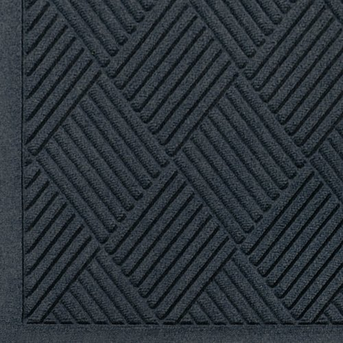 Andersen 221 Charcoal Polypropylene WaterHog Fashion Diamond Entrance Mat, 8.4' Length x 3' Width, For (Waterhog Fashion Diamond Mat)