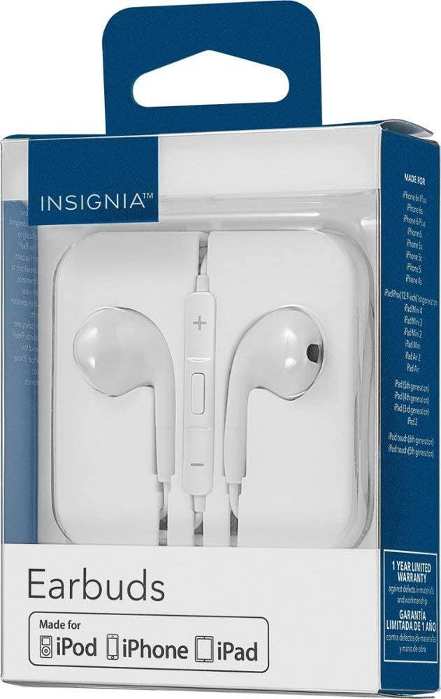 Insignia Wired Earbuds Off-White