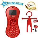 Chilli Spinner Phone World's Slimmest Mobile Phone Cum Spinner Credit Card Sized - Red