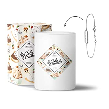 Avec Jolie Parfum Surprise L'intérieur À CadeauBracelet Cupcake • Bougie Bijou Cire 100 Candle My Noisettes Naturelle Parfumée Ig7bvf6Yy