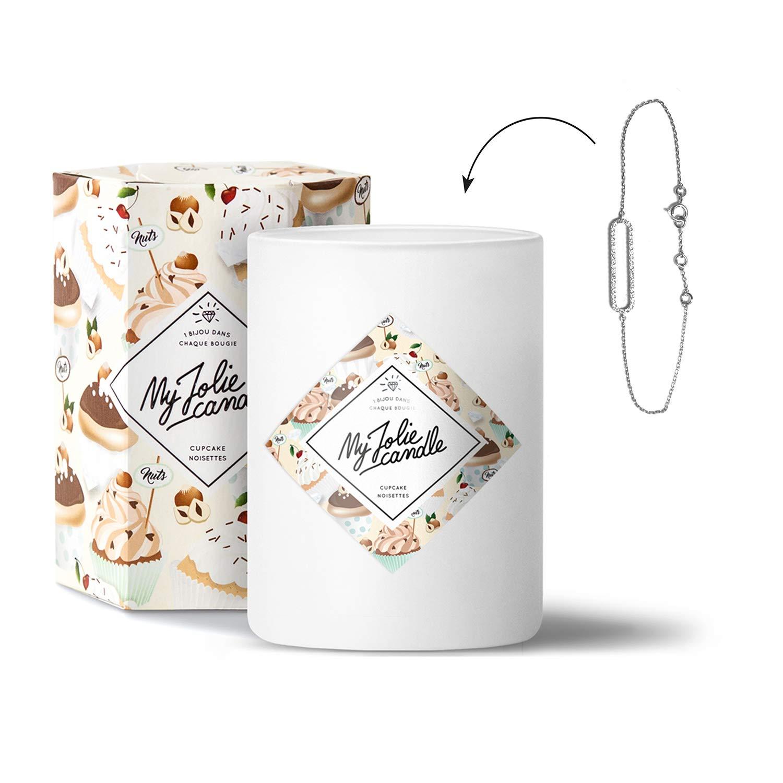 My Jolie candle Bougie-Bijou Cupcake Noisettes - Bracelet