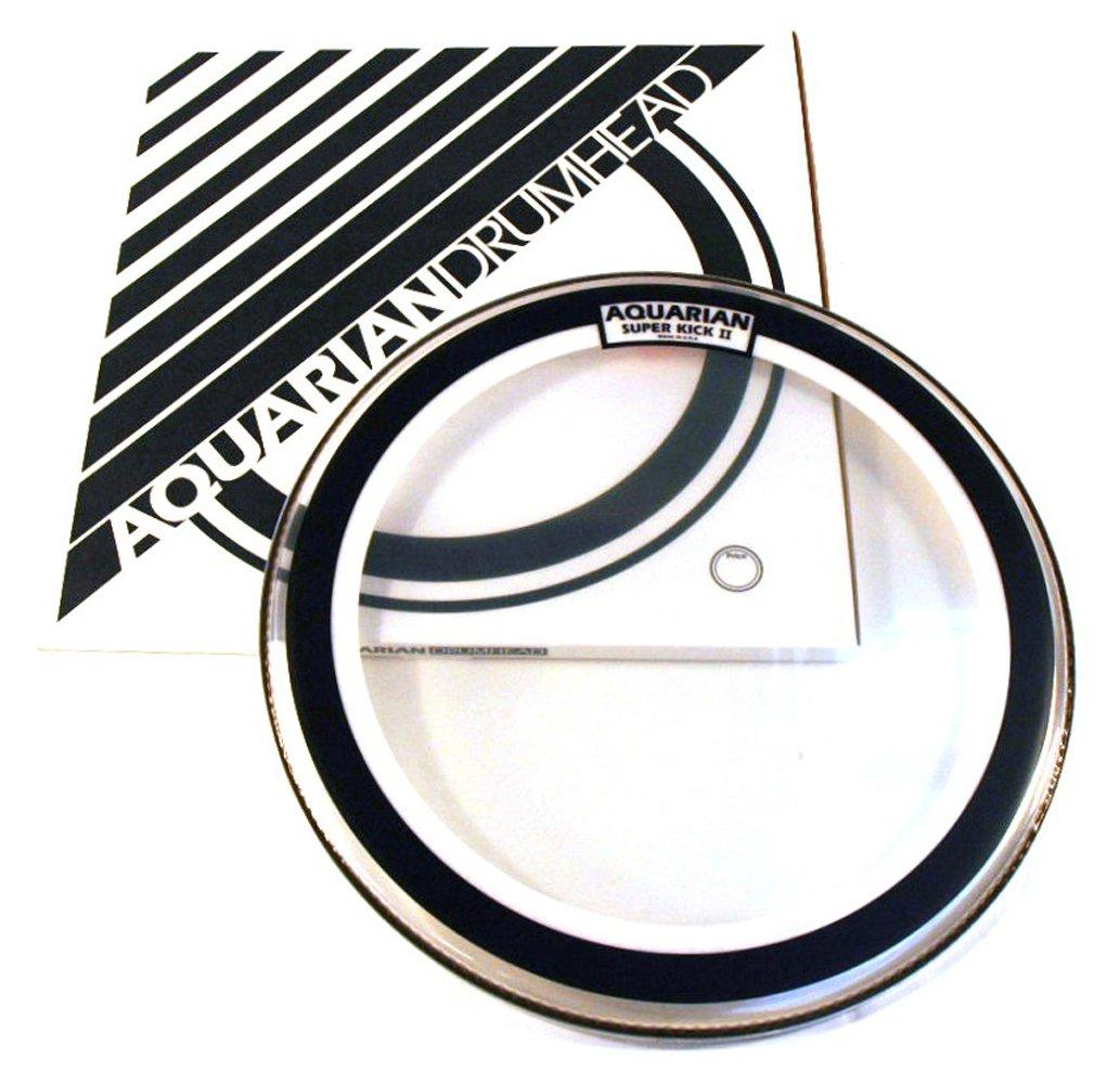 Aquarian Drumheads SKII24 Super-Kick II Double Ply 24-inch Bass Drum Head