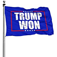 Trump Won Flag, 3x5 Ft / 90x150 CM Outdoor Uv Fade Resistant Trump Won Banner with Brass Grommets Vivid Color, Outdoor…