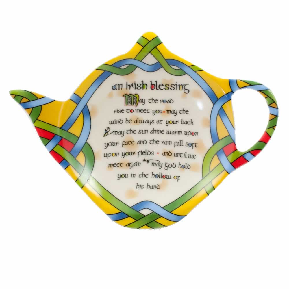Tea Bag Holder Tea Set Accessory Irish Blessing by Clara