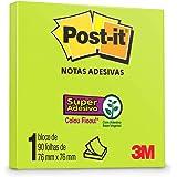 Bloco de Notas Super Adesivas Post-it Verde Neon 76 mm x 76 mm - 90 folhas