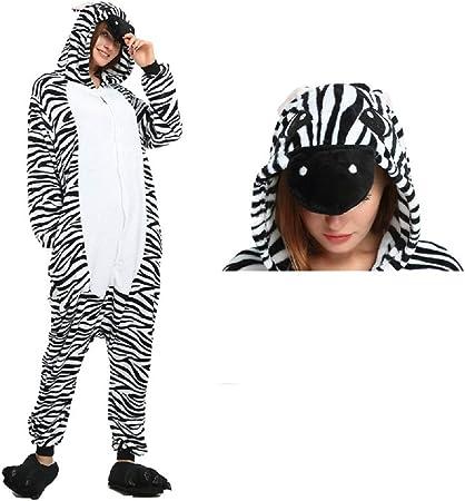 ZHANGZHIYUA Pijamas Unisex para Adultos - Disfraz de Cebra de una ...