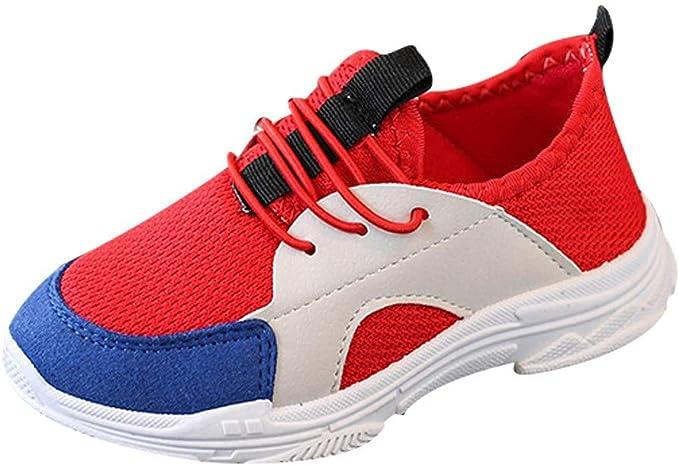 ZODOF Lindos Zapatos para niños Colores Mezclados Zapatillas Deportivas de Estilo Deportivo para Correr: Amazon.es: Ropa y accesorios