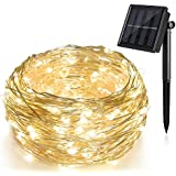 Solar String Lights (72 ft, Waterproof, 8 Modes), Ankway Bendable Copper Wire High Efficiency 200 LED Durable...