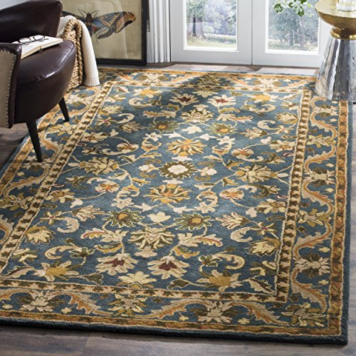 Safavieh Antiquities Collection AT52C Handmade Traditional Oriental Blue and Gold Wool Area Rug (5' x 8')