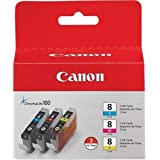 Canon CLI-8 3 Color Ink Tank Compatible to Pro9000, Pro9000 Mark II, iP6700D, iP6600D, iP5200R, iP5200, iP4200, iP4500, iP430