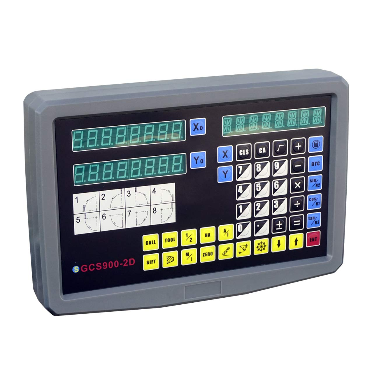 DCHOUSE 5 digit display for milling 2 axes digital readable grating scale display