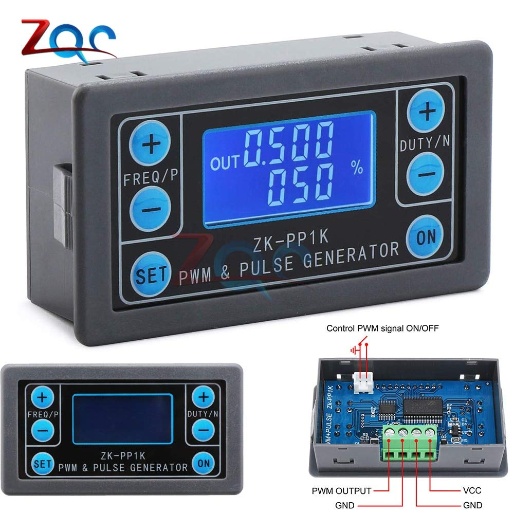 LCD Digital PWM Signal Generator Pulse Frequency Duty Cycle Adjustable Square Wave Rectangular Wave Signal Function Generator