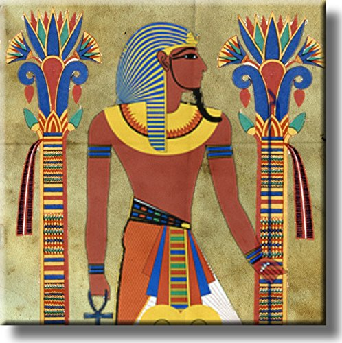 Old Egyptian Art Picture on Stretched Canvas, Wall Art Décor,