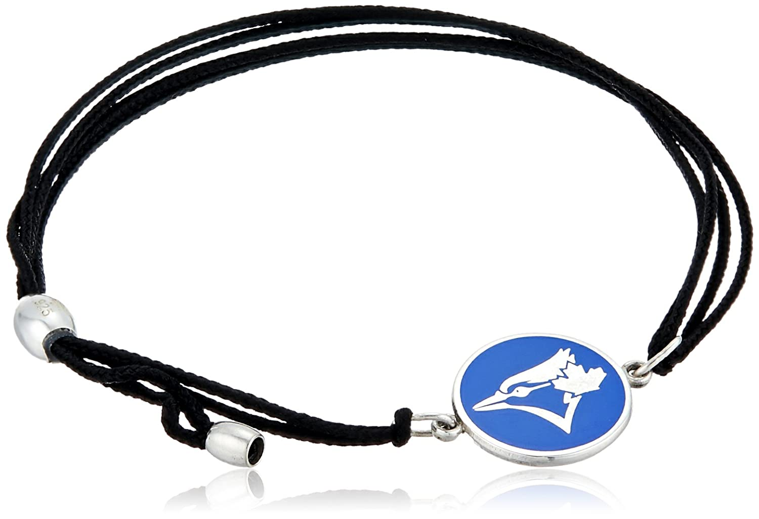 ALEX AND ANI Women's Kindred Cord Toronto Blue Jays Bracelets Bangle, Sterling Silver, Expandable AS17KC11S