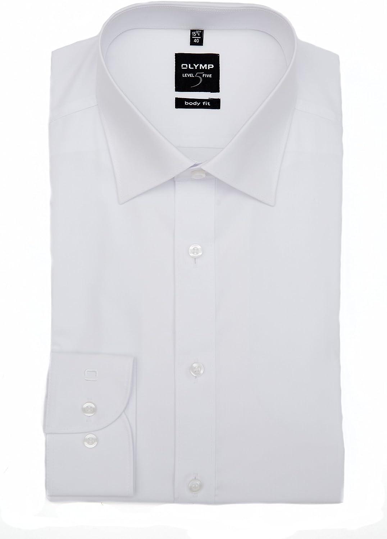 Olymp Camisa niveles Five Body Fit – Blanco, cuello ancho: 37: Amazon.es: Ropa y accesorios