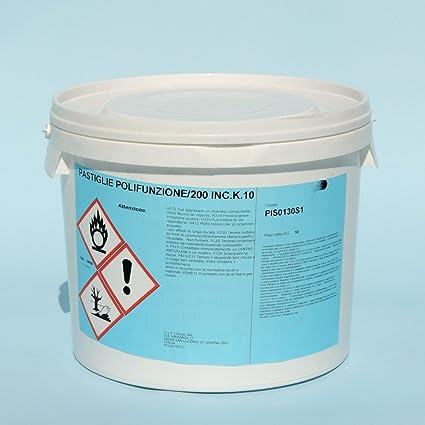 cubex professional Multifunzione Cloro pastiglie 200 gr Pulizia Acqua  Piscina alghicida flocculante kg 10 3e237e9f8b26