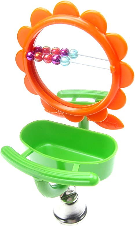 Bird Bath Activity Bathing Toy with Mirror for Budgies Cage Accessory TRIXIE