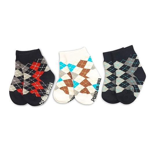 a8927a8ae Amazon.com  Cute Baby Boy Socks 3-Pair Gift Set - Argyle - Organic ...