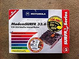 """Modem """"SURFR 33.6"""" Data/Fax Internal Modem by Motorola"""