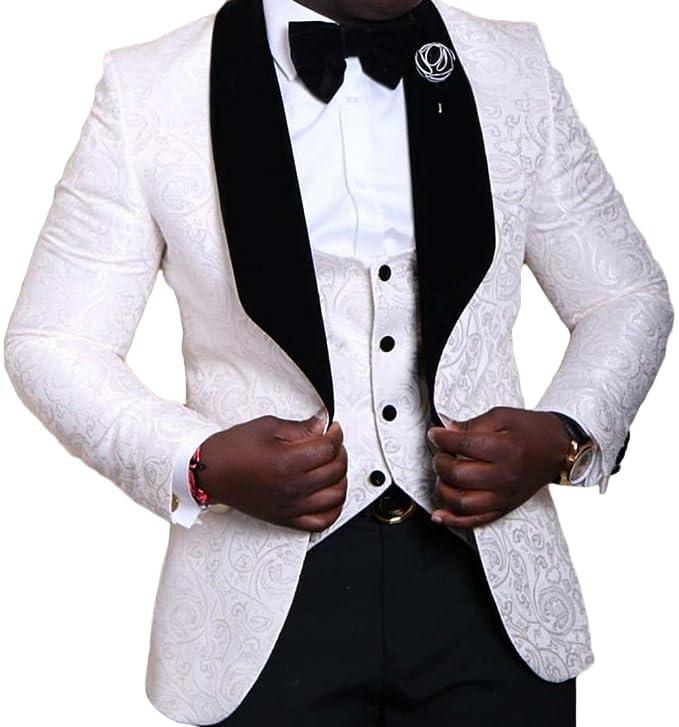 Botong Shawl Lapel Wedding Suits 3 Pieces Men Suits Groom Tuxedos Jacket Vest Pants