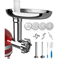 X Home Meat Grinder Attachment Compatible with Kitchenaid Stand Mixer, Durable Metal Food Grinder Attachment with 2…