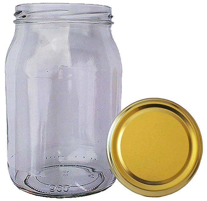 Wamat 300 ml Einweckgl/äser mit Deckel Gold to 66 Einmachgl/äser Vorratsgl/äser Einmachglas Weck Menge: 12 St/ück