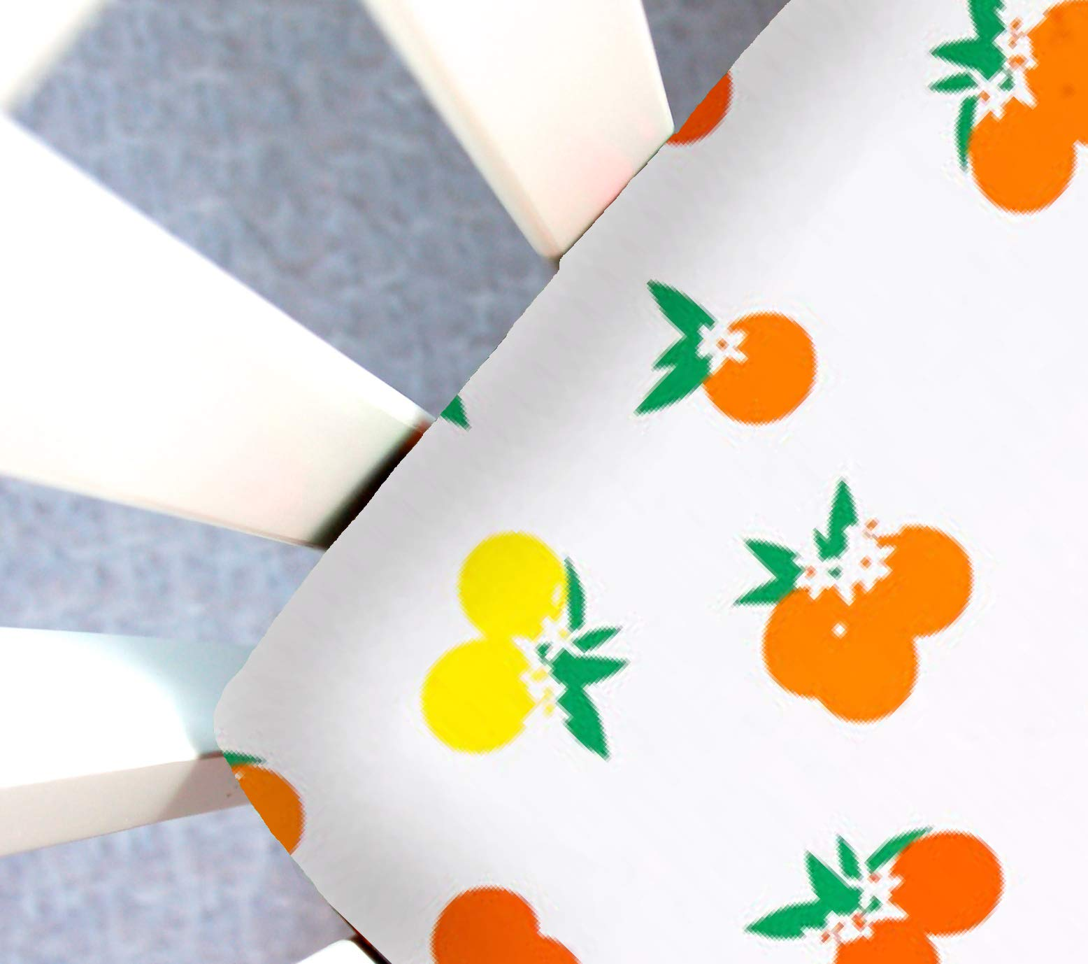 Little Moose by Liza Handmade Sheet Made to Fit Baby Bjorn Travel Crib in Citrus Sunrise (Oranges & Lemons). This Sheet was Not Created or Sold by Baby Bjorn. by Little Moose By Liza LLC