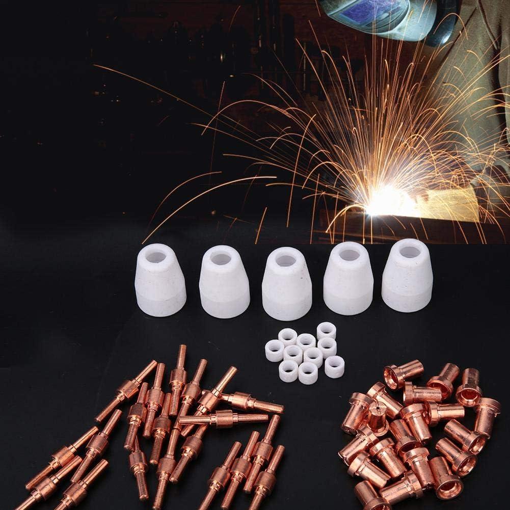 55pcs Electrode Nozzle Shield Cup Gas Ring Schwei/ßzubeh/ör f/ür Plasmaschneidbrenner