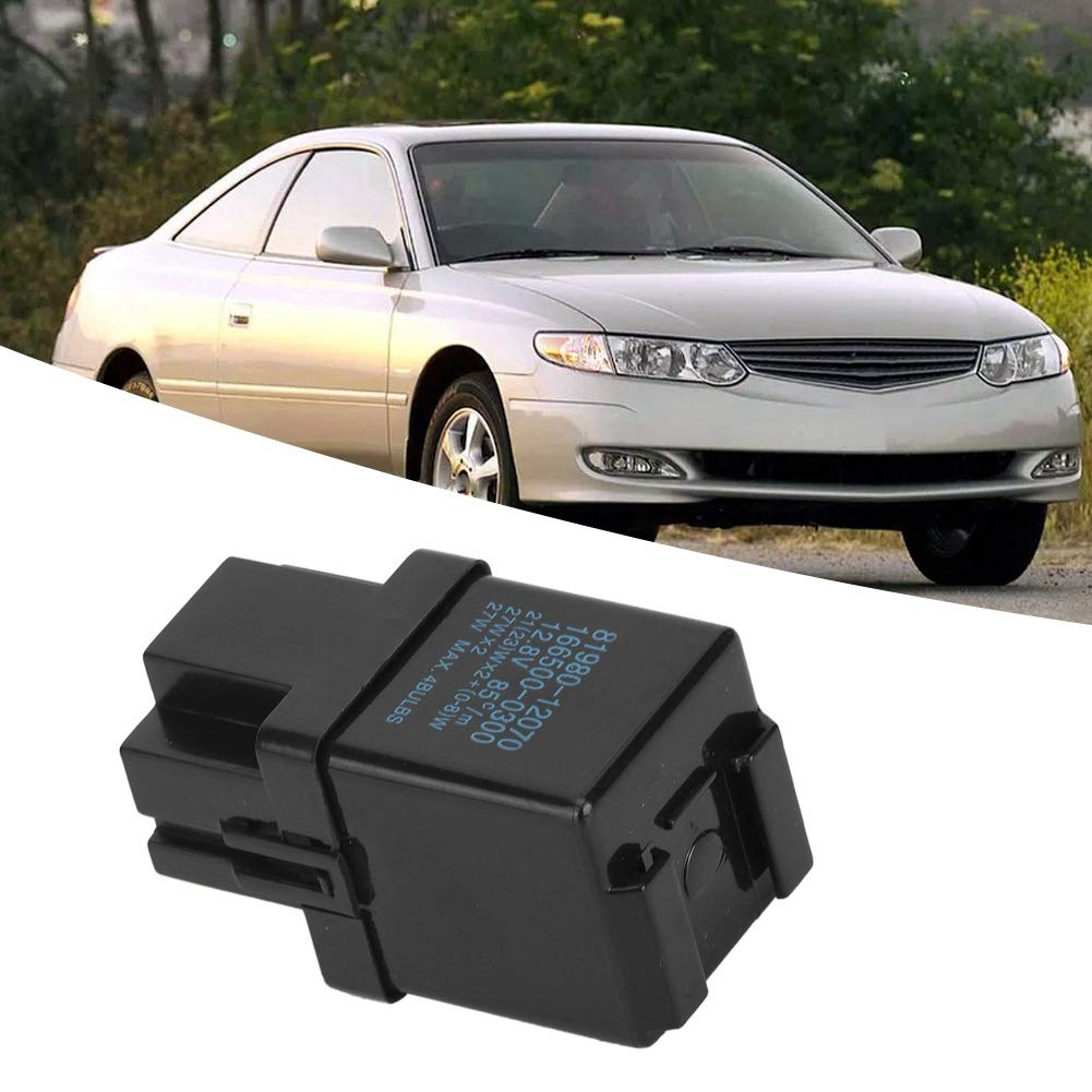 Cuque 81980-12070 Flasher Relay ABS Plastic Car Replacement Flasher Relay Turn Signal Fits for Lexus ES300 GS300 LS400 LX450 SC300 SC400 4 Runner Camry Celica Corolla Land Cruiser Supra Tacoma