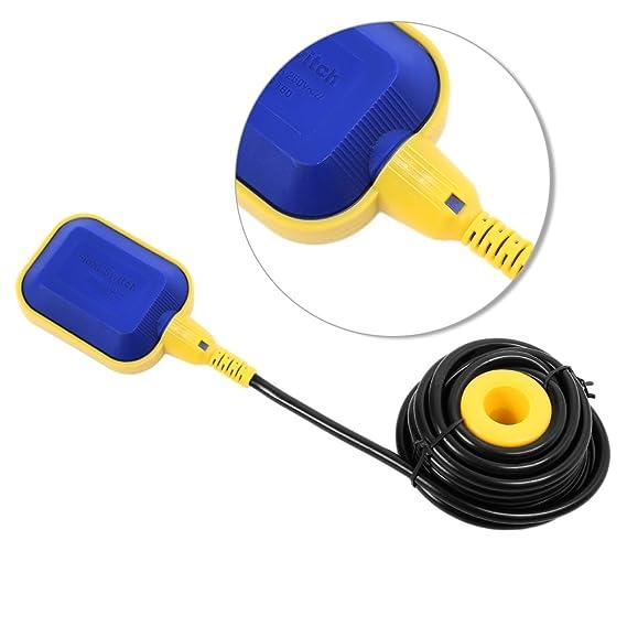 250 V interruptor de flotador Control automático con 10 m cable PVC para bomba de agua fluido líquido depósito piscina: Amazon.es: Iluminación