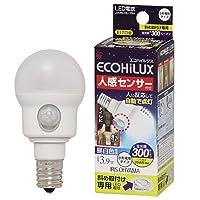 アイリスオーヤマ LED電球 人感センサー付 小形電球タイプ 3.9W(全光束:300 lm/昼白色相当)【斜め取付け専用】IRIS LDA4N-H-E17SH