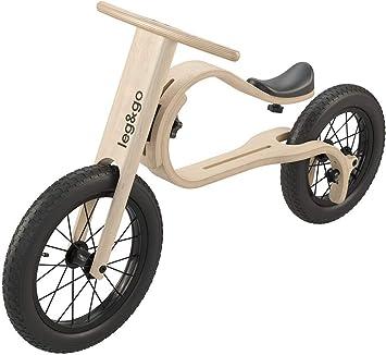 Leg&Go - Bicicleta de Equilibrio de Madera, 3 en 1: Amazon.es: Deportes y aire libre