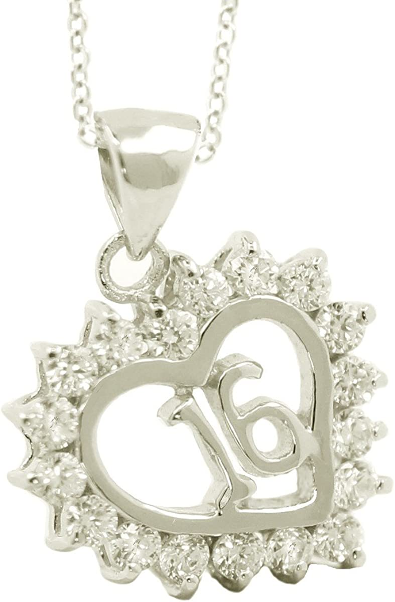 Sterling Silver Sweet 16 Pendant