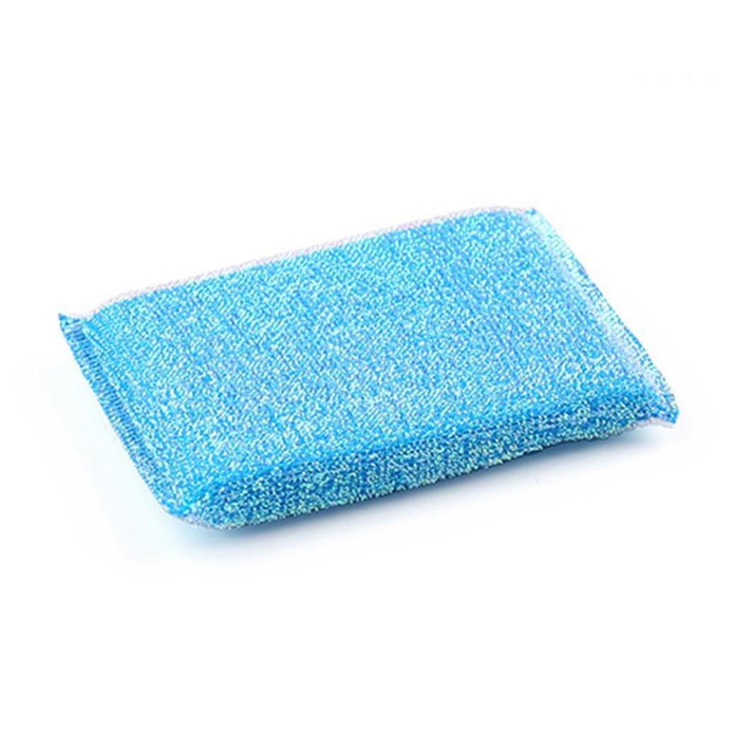 Fenleo Cleaning Scrub sponge, Cleaning Sponges Universal Sponge Brush Set Kitchen Cleaning Tools Helper (1-Pack)