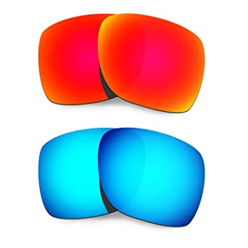 fd4c3bf9fe HKUCO Mens Replacement Lenses For Oakley Deviation Sunglasses Red Blue  Polarized