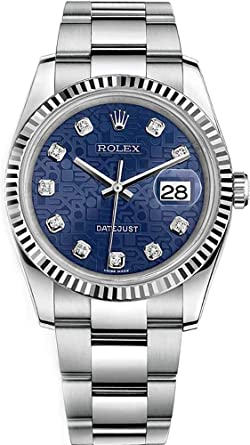 5c6f7e8801a Image Unavailable. Image not available for. Color: Rolex Datejust 36 Blue  Diamond Jubilee Dial Luxury Watch 116234