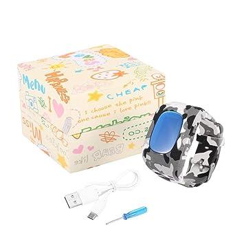Bunner Q50 Reloj de Pulsera Inteligente para Niã±Os Detector de Sensor de luz GPS Anti-perdida Llamada SOS Monitor Remoto en Tiempo Real PodóMetro Paso ...